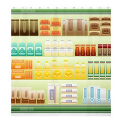 Supermarket Shelf Coffee Tea Grains Shower Curtain 66  X 72  (large)  by Celenk
