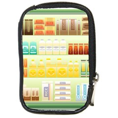 Supermarket Shelf Coffee Tea Grains Compact Camera Cases by Celenk