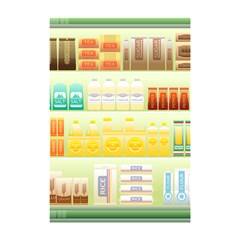 Supermarket Shelf Coffee Tea Grains Shower Curtain 48  X 72  (small)  by Celenk