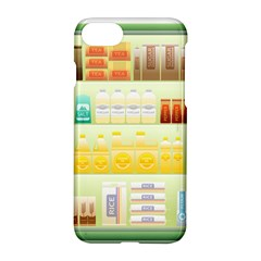 Supermarket Shelf Coffee Tea Grains Apple Iphone 7 Hardshell Case by Celenk