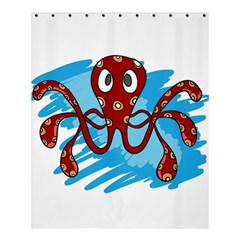 Octopus Sea Ocean Cartoon Animal Shower Curtain 60  X 72  (medium)