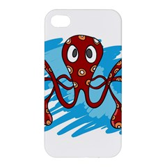 Octopus Sea Ocean Cartoon Animal Apple Iphone 4/4s Premium Hardshell Case by Celenk