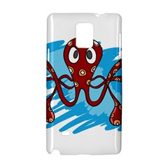 Octopus Sea Ocean Cartoon Animal Samsung Galaxy Note 4 Hardshell Case by Celenk