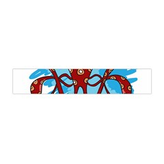 Octopus Sea Ocean Cartoon Animal Flano Scarf (mini) by Celenk