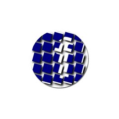 Facebook Social Media Network Blue Golf Ball Marker (10 Pack)
