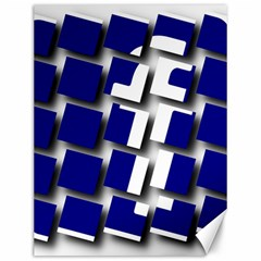 Facebook Social Media Network Blue Canvas 12  X 16   by Celenk