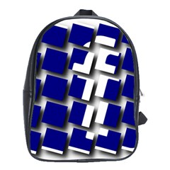 Facebook Social Media Network Blue School Bag (large)