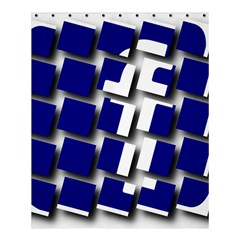 Facebook Social Media Network Blue Shower Curtain 60  X 72  (medium)