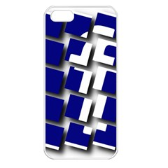 Facebook Social Media Network Blue Apple Iphone 5 Seamless Case (white) by Celenk