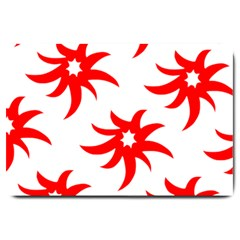 Star Figure Form Pattern Structure Large Doormat  by Celenk