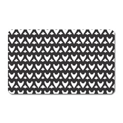 Heart Black Chain White Magnet (rectangular) by Celenk
