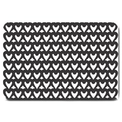 Heart Black Chain White Large Doormat