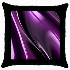 Fractal Mathematics Abstract Throw Pillow Case (black) by Celenk