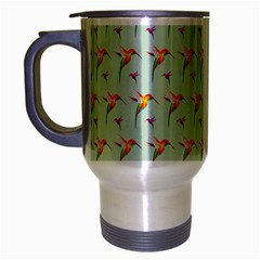 Birds Hummingbirds Wings Travel Mug (silver Gray) by Celenk