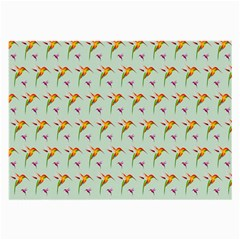 Birds Hummingbirds Wings Large Glasses Cloth (2 Side) by Celenk