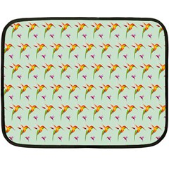 Birds Hummingbirds Wings Double Sided Fleece Blanket (mini)  by Celenk