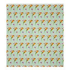 Birds Hummingbirds Wings Shower Curtain 66  X 72  (large)  by Celenk
