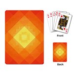 Pattern Retired Background Orange Playing Card Back