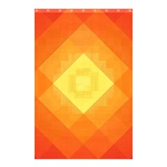 Pattern Retired Background Orange Shower Curtain 48  X 72  (small)
