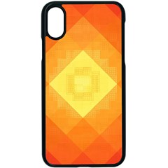 Pattern Retired Background Orange Apple Iphone X Seamless Case (black)