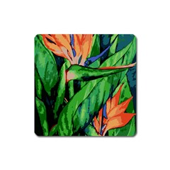 Flowers Art Beautiful Square Magnet