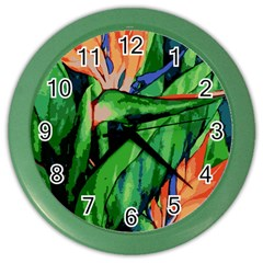 Flowers Art Beautiful Color Wall Clocks