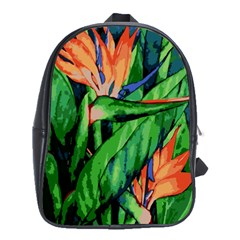 Flowers Art Beautiful School Bag (large)