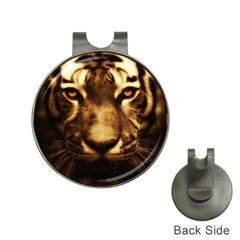 Cat Tiger Animal Wildlife Wild Hat Clips With Golf Markers by Celenk