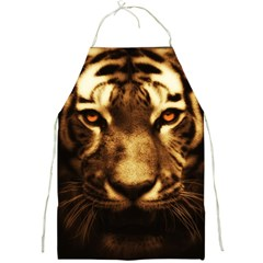 Cat Tiger Animal Wildlife Wild Full Print Aprons by Celenk