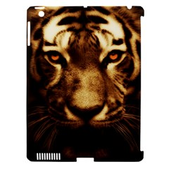 Cat Tiger Animal Wildlife Wild Apple Ipad 3/4 Hardshell Case (compatible With Smart Cover) by Celenk