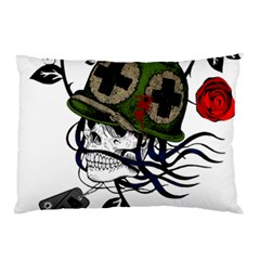 Skull Skeleton Dead Death Face Pillow Case (two Sides)