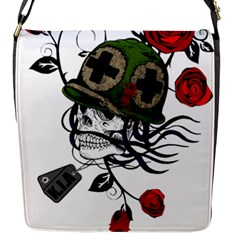 Skull Skeleton Dead Death Face Flap Messenger Bag (s) by Celenk