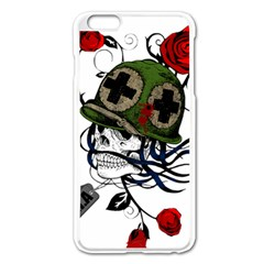 Skull Skeleton Dead Death Face Apple Iphone 6 Plus/6s Plus Enamel White Case by Celenk