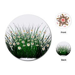 Spring Flowers Grass Meadow Plant Playing Cards (round)