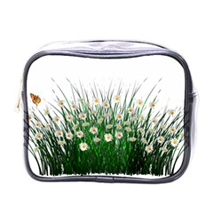 Spring Flowers Grass Meadow Plant Mini Toiletries Bags by Celenk