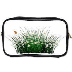 Spring Flowers Grass Meadow Plant Toiletries Bags 2 Side by Celenk