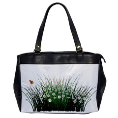 Spring Flowers Grass Meadow Plant Office Handbags by Celenk
