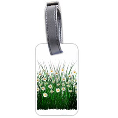 Spring Flowers Grass Meadow Plant Luggage Tags (one Side)  by Celenk