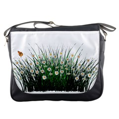 Spring Flowers Grass Meadow Plant Messenger Bags by Celenk