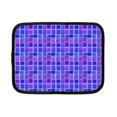 Background Mosaic Purple Blue Netbook Case (small)  by Celenk