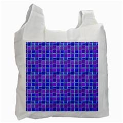 Background Mosaic Purple Blue Recycle Bag (two Side)  by Celenk
