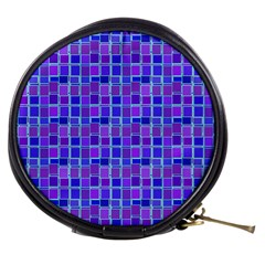 Background Mosaic Purple Blue Mini Makeup Bags by Celenk