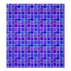 Background Mosaic Purple Blue Shower Curtain 66  X 72  (large)  by Celenk