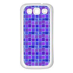 Background Mosaic Purple Blue Samsung Galaxy S3 Back Case (white) by Celenk