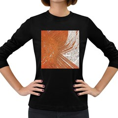 Abstract Lines Background Mess Women s Long Sleeve Dark T Shirts