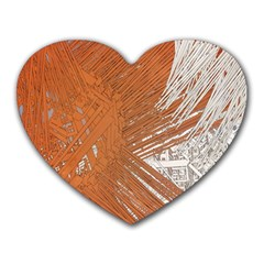 Abstract Lines Background Mess Heart Mousepads