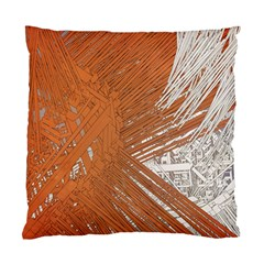 Abstract Lines Background Mess Standard Cushion Case (two Sides)