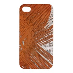 Abstract Lines Background Mess Apple Iphone 4/4s Premium Hardshell Case by Celenk
