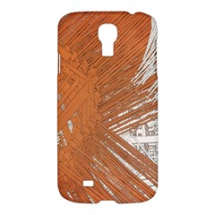 Abstract Lines Background Mess Samsung Galaxy S4 I9500/i9505 Hardshell Case by Celenk