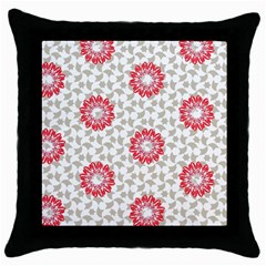 Stamping Pattern Fashion Background Throw Pillow Case (black) by Celenk